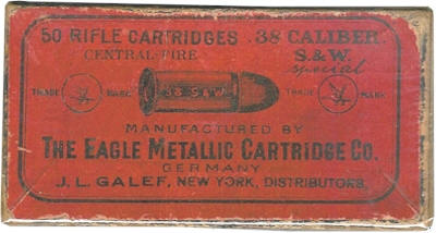 .38 S&W box by The Eagle Metallic Cartridge Company