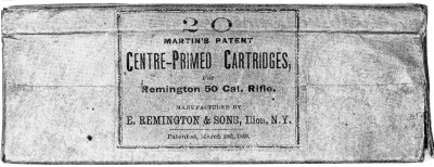 E. Remington box of 50-70 cartridges