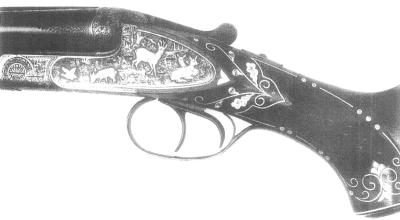 Engraved shotgun action